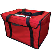 HEATED Food Delivery Bag, Red